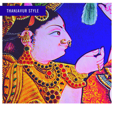 Sketching and embellishments – Thanjavur style