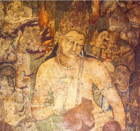 1,500 year old Unesco murals from Ajanta